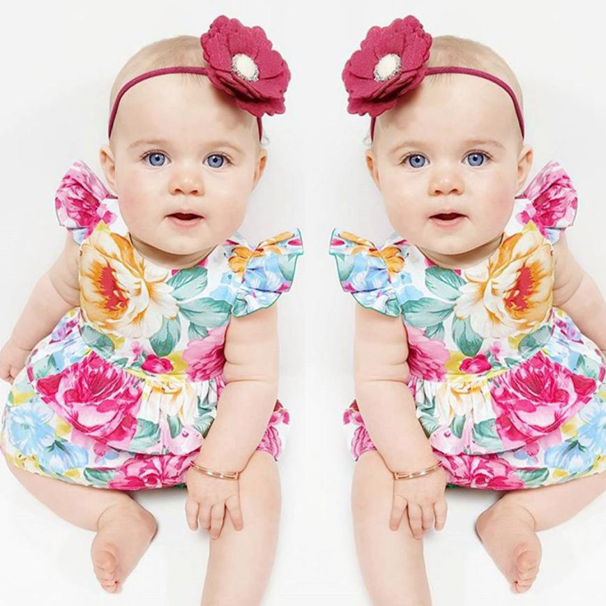 Kids Dresses Outfits Flower Toddler Baby-Girl Infant Princess Floral Cute M27 TELOTUNY