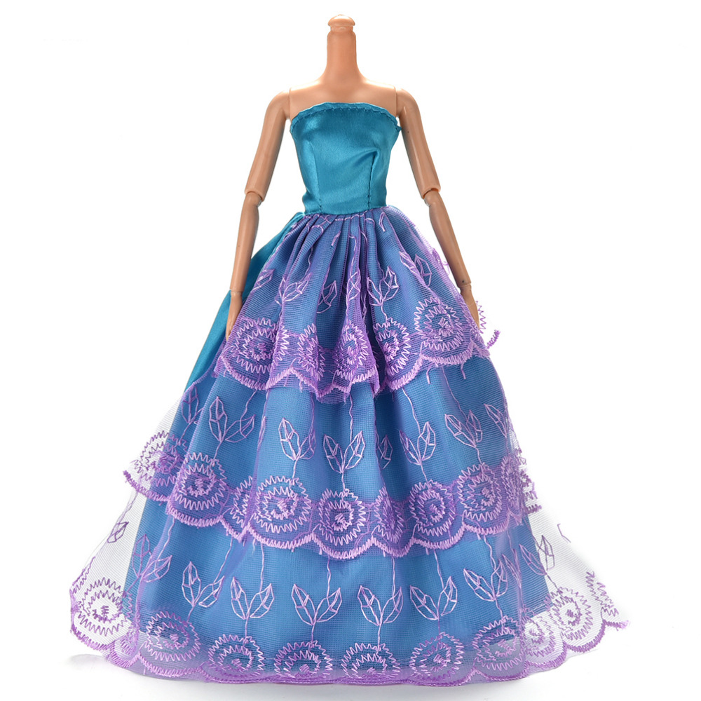 Multi Layers Elegant Summer Clothing Gown For Doll Handmake Wedding Princess Dress Beautiful Doll Party Dress