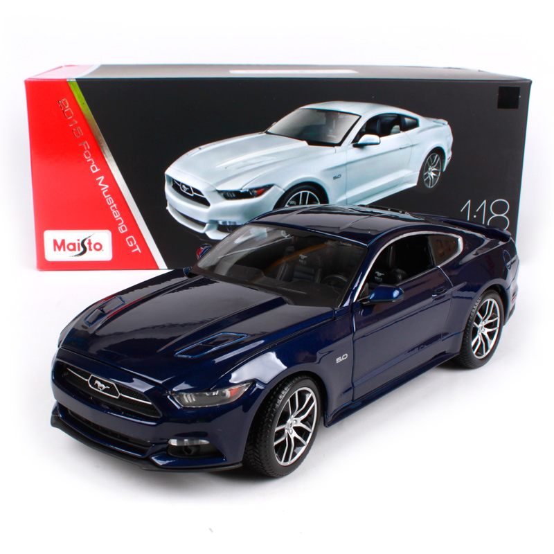 Maisto 1:18 2015 Ford Mustang GT Sports Car Hardback Diecast Model Car Toy New In Box Free Shipping 38133 ford mustang v6 2011
