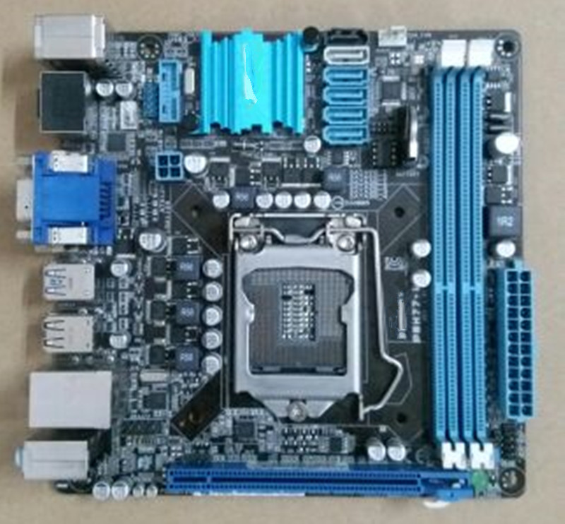 For Asus P8H77-I Original Used Desktop Motherboard For Intel H77 LGA 1155 For i3 i5 i7 DDR3 16G SATA3 USB3 HDMI DVI VGA Mini-ITX used motherboard mainboard for msi h67ma e35 lga 1155 ddr3 16gb usb2 0 usb3 0 vga dvi hdmi micro atx board