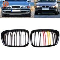 POSSBAY German Flag Style Front Center Wide Kidney Hood Grille for BMW 5 Series E39 525td/525tds/528i Sedan 1995 2003 Car Grills