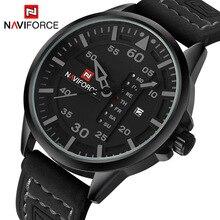NAVIFORCE Luxus Marke Männer Armee Militär Uhren männer Quarz Datum Uhr Mann Lederband Sport Armbanduhr Relogio Masculino