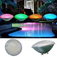LED PAR56 pool light 54W 12V 24V RGB IP68 18led Swimming Pool Light Outdoor Lighting Underwater Pond light led piscina CE RoHS