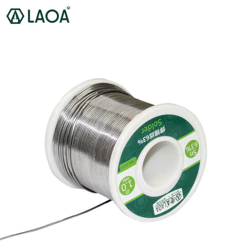 LAOA 63% Tin Content 0.8-2.3mm Rosin Solder Wire,400g Welding Wires, Welding Asistant Tin Wire