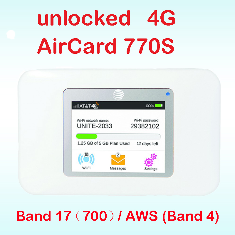 Unlocked netger 4g 150Mbps Sierra Wireless router Aircard 770S 4G LTE Mobile WiFi Hotspot dongle 4g pocket wifi ac770s