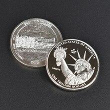 1 триллион долларов Золото Посеребренная коллекция США металлическая монета
