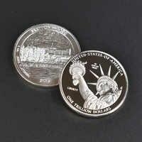 Moneda de Metal de colección de estados unidos bañada en plata y oro de 1 trillón de dólares