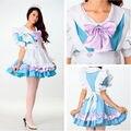 Anime Girl Cosplay Lolita traje de Mucama Uniforme Princesa Desgaste Del Funcionamiento Del Vestido