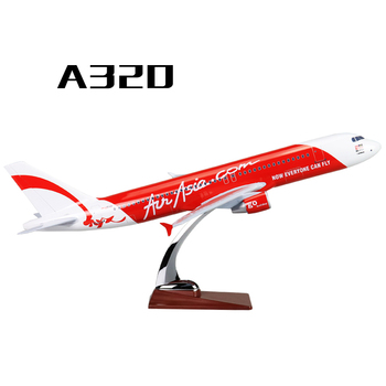 47cm Resin A320 Air Asia Airplane Model Asian Airlines Airbus Red Air Asia A320-200 Airways Aircraft Model Aviation Collections