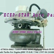 GT3576D 479016 750849 479016-0002 750849-5001 S 24100-3521C турбо Турбокомпрессор Для кобелко-Экскаватора шоссейный грузовой автомобиль 1997-04 J08C-Ti J08CTi 8.0L