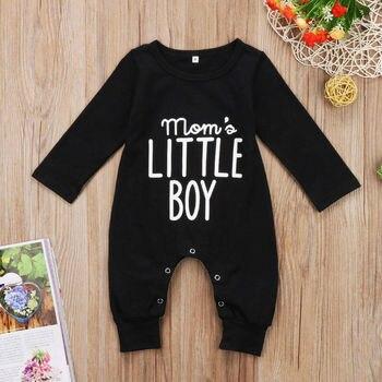 Boy's Mom's Little Boy Printed Jumpsuit 5