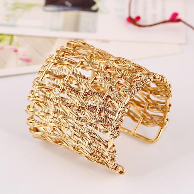 Женский металлический плетеный браслет lzhlq открытый регулируемый