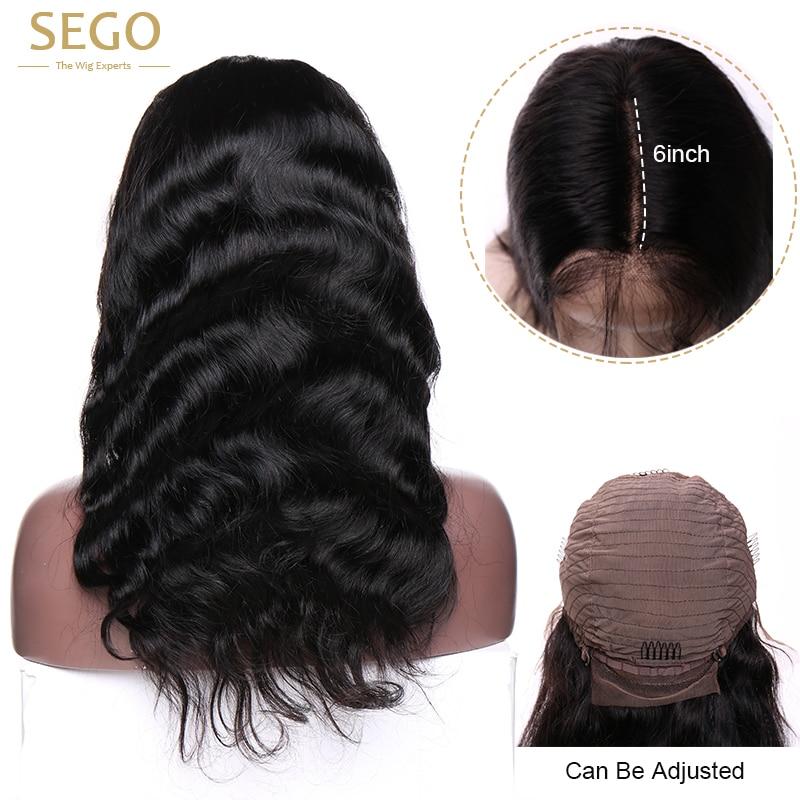 Сего 13x6 Синтетические волосы на кружеве Парик бразильской волне тела Full заканчивается Синтетические волосы на кружеве человеческих волос ...