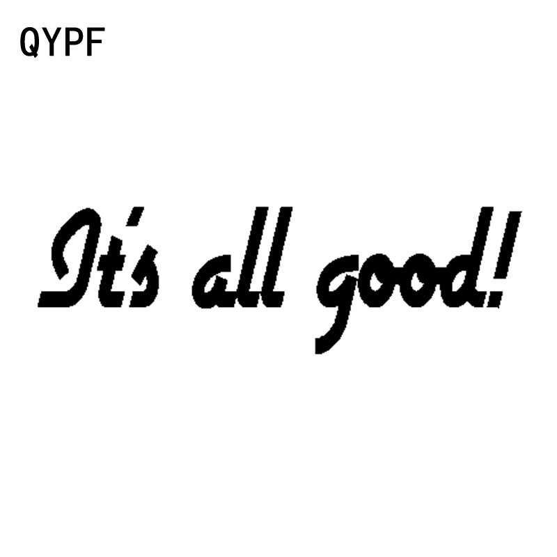 Automobiles & Motorcycles Reasonable Qypf 15cm*4.5cm Its All Good Funny Vinyl Retro-reflective Car-styling Car Sticker Decal Black Silver C15-1252 Car Stickers
