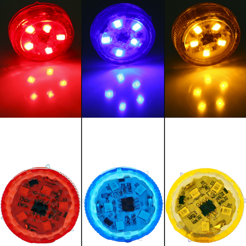 2pcs Car-styling Car Door Warning Light Safety Strobe Light 3Color Traffic Signal Lamp Anti-collid Police Light Stickers on Cars