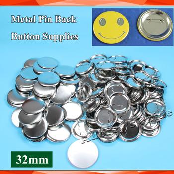 Darmowa wysyłka 1-1 4 #8222 32mm 200 wyznacza nowe w całości ze stali do buttonów z guzikiem Pin z powrotem metalowe Pinback przycisk materiały materiały tanie i dobre opinie 100-499 Sztuk