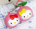 original package rare hello kitty fruit cherry squishy pink cell phohe Strap Charm wholesales free shipping hotsales 5pcs/lot