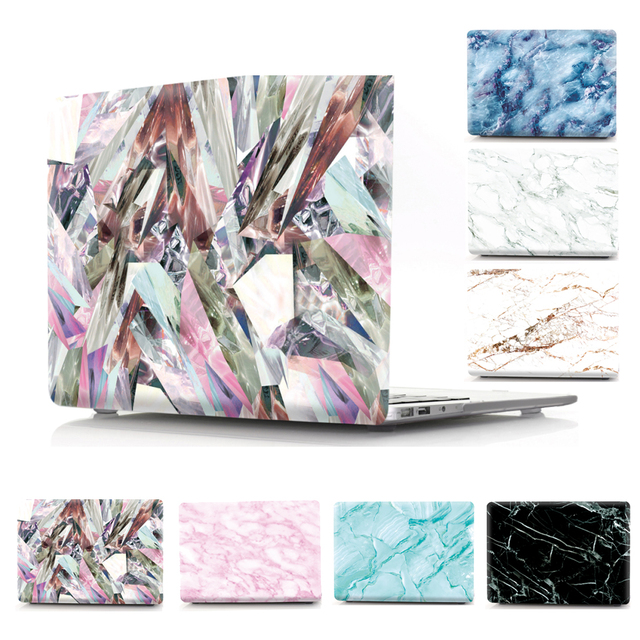 Black White Stone 2018 For MacBook Air 13 Case Marble A1466 Hard PVC Shockproof Cover for mac book Air 13 A1466 Marble Case