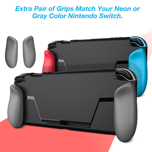Image 2 - New Portable Case for Nintend Switch Console Carry Gaming Bag Soft TPU Case with Ergonomic Grip Shell Pouch for Nitendo Switch