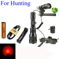 300Meters Long Range CrazyFire HS-802 CREE XPE LED Hunting Flashlight Torch+ Remote Switch + Gun Mount Holder +Battery & Charger