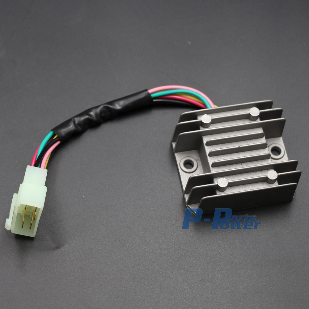 medium resolution of voltage regulator rectifier 5 wires 5 pin 12v gy6 scooter atv 50cc 125cc 150cc new