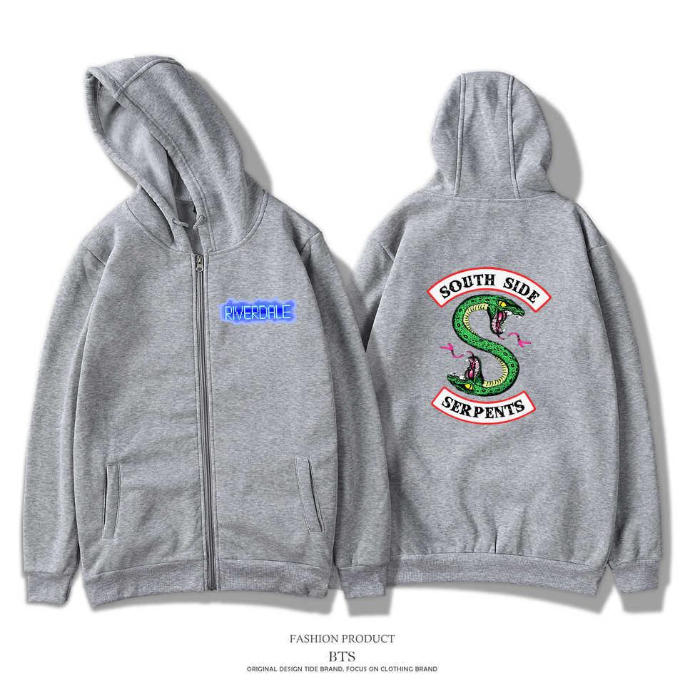 LUCKYFRIDAYF Riverdale Hoodies Sweatshirts Men/Women Zipper Casual Hipster Brand Comfortable Printing Long Women Zipper Hoodie