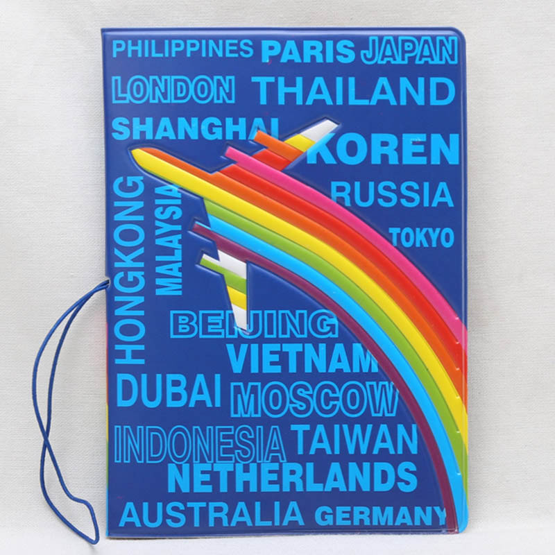 Travel Accessories Travel Around The World Passport Cover ID Credit Card Bag 3D Design PU Leather Passport Holder Bag 14*9.6CM hot overseas travel accessories passport cover luggage accessories passport card secret garden