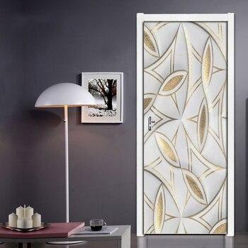3D ステレオゴールデンソフトバッグドアステッカー窓ビニールステッカーアッラー PVC 自己接着壁紙家の装飾リムーバブル壁画ポスター