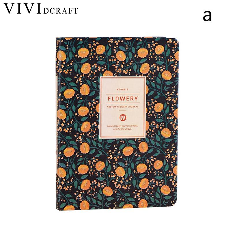 цена Vividcraft Elegant Floral Loose Leaf Notebook Refill Spiral Binder Planner Inner Page Inside Paper Dairy Weekly Monthly Planner