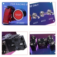 LED Toggle Ignition Switch 12V Panel Engine Start Push Button Set For Racing Auto Interior Switches