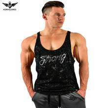 Men Cotton Bodybuilding Gyms Sporting Tank Tops Fitness Stringer Singlet Sleeveless Tops Casual Workout Clothes T Shirt vest