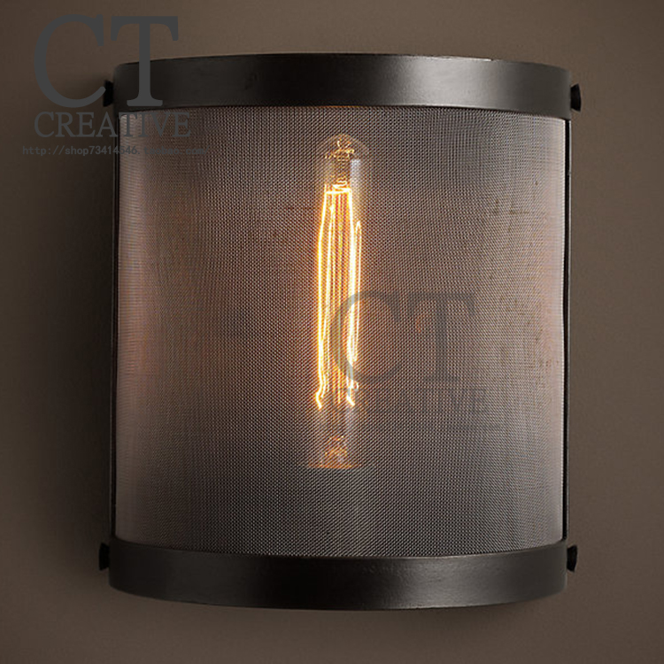 American vintage wall lighting loft industrial style wall lamp rustic lamps-in Wall Lamps from ...