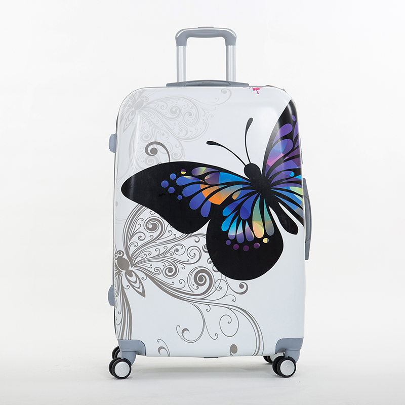 abs butterfly trolley luggage bag universal wheels luggage travel bag picture box 14 20 24 28box. Black Bedroom Furniture Sets. Home Design Ideas