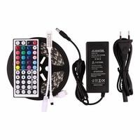 5M RGB Led Strip 5050 SMD Non waterproof 300LED/5M DC12V LED Light+44 Keys Remote Controller+12V 5A Power Adapter led strip 5050 12vled strip led strips -