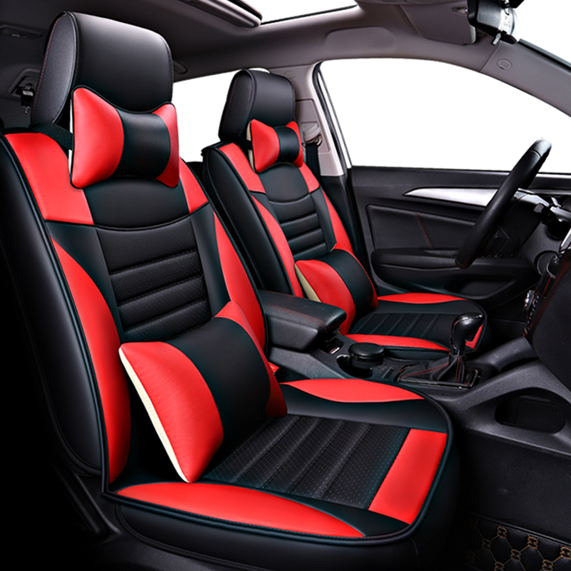 (Front+Rear)PU Leather Car Seat Covers For Honda