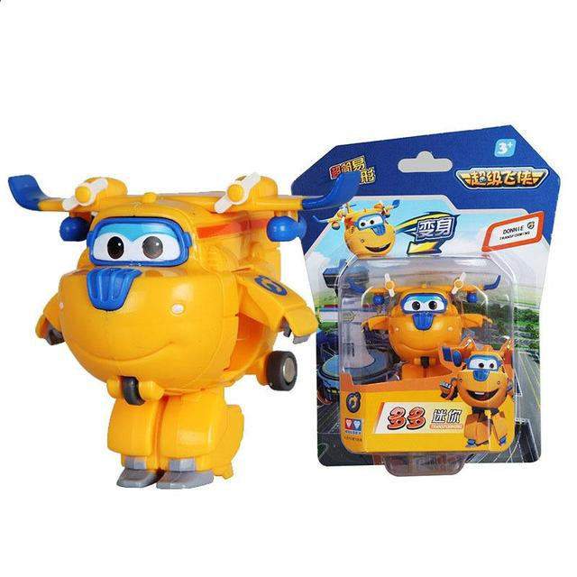 Super Wings Mini Airplane ABS Robot toys Action Figures
