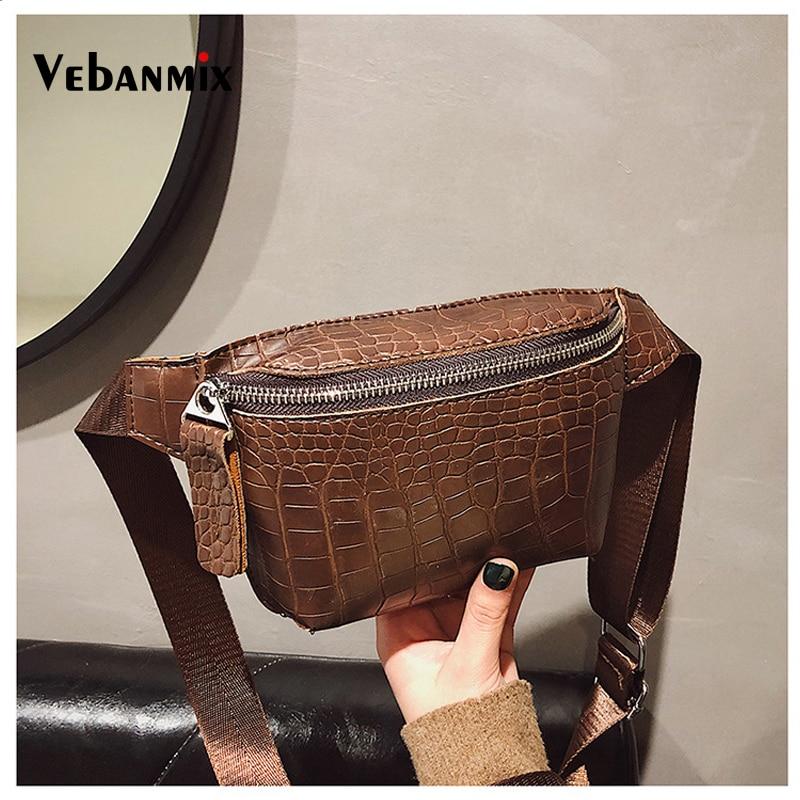 Alligator Leather Waist Belt Bag Women Luxury Phone Pouch Fanny Pack For Women Chest Handbag Female Waist Pack Heuptas Pochete