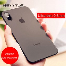 Heyytle Ultra thin 0.3mm Phone Case For iPhone XS MAX XR X 7 8 Plus Full Cover Shockproof Cover For iPhone 8Plus XS X 9 10 Cases(China)