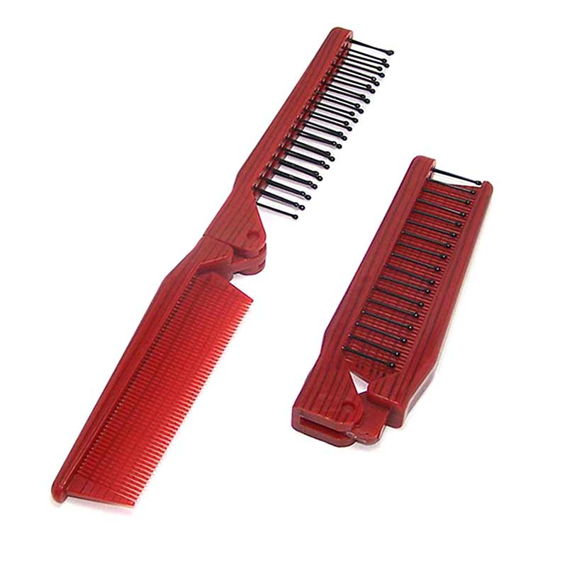 1Pcs Beautiful Women Pocket Folding Comb All Hair Types Beard Mustache Hot Selling -27 ...