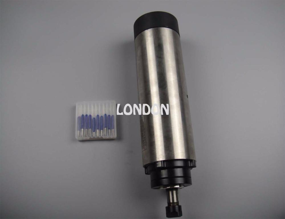 CNC spindle kit ER11 800W air cooling spindle motor +10 pieces cnc engraving bits 1 5kw air cooling spindle square model er11 cnc spindle motor machine tool spindle