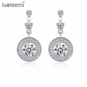 f895d66be4b1 925 Pendientes de plata joyería de la vendimia ronda Pendientes encanto  minimalismo mamá regalo de cumpleaños Brincos Oorbellen Pendientes para las  mujeres