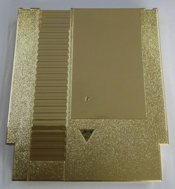 Golden Color Metal Plating 72 Pins Game Cartridge Replacement Plastic Shell For NES Console