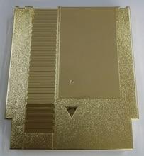 Chapeamento de Cor dourada do Metal 72 Pinos Jogo Cartucho de Substituição De Plástico Shell Para NES Console