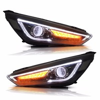 Vland Car Styling Headlights Fit Ford Focus Headlight 2015 2016 2017 Led DRL Double Beam Head Lamp Turnlight Running Light