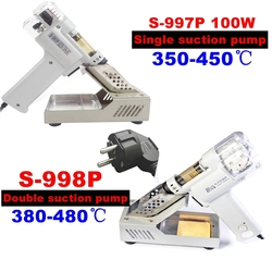 S-998P S-997P 100W double suction pump pump suction electric vacuum pump gun desoldering welding imbecile gun 220V 110V weapon