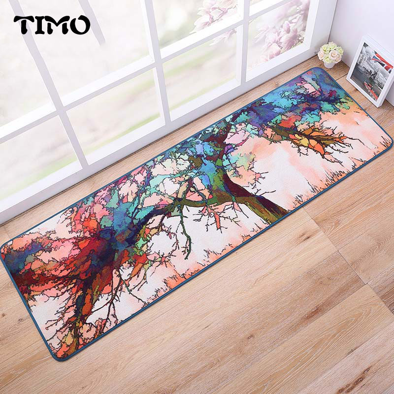 Creative Personality Oil Tree Door Mat Area Rug For Living