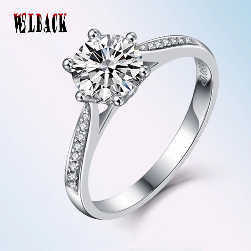 2016 New 6 claw Zirconia Wedding Engagement Rings For Women White Fashion Jewelry Female Ring Bijoux Wholesale