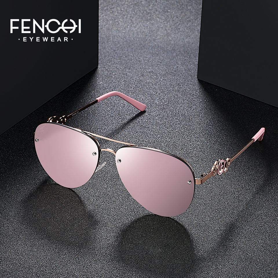 Fenchi 5colors Sunglasses Women Driving Classic Vintage Eyewear High Quality Metal Sunglasses Fashion Brand Design Glasses Uv400 Agreeable To Taste