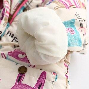 Image 4 - 新秋冬子供用 1 7 t 落書きパーカーフード付きコート暖かい上着子供服ベビー