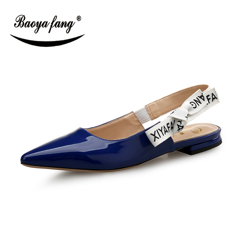 BaoYaFang New arrival Low Heel Womens Wedding shoes Black Red Blue ladies Med heel shoes woman in Women 39 s Pumps from Shoes